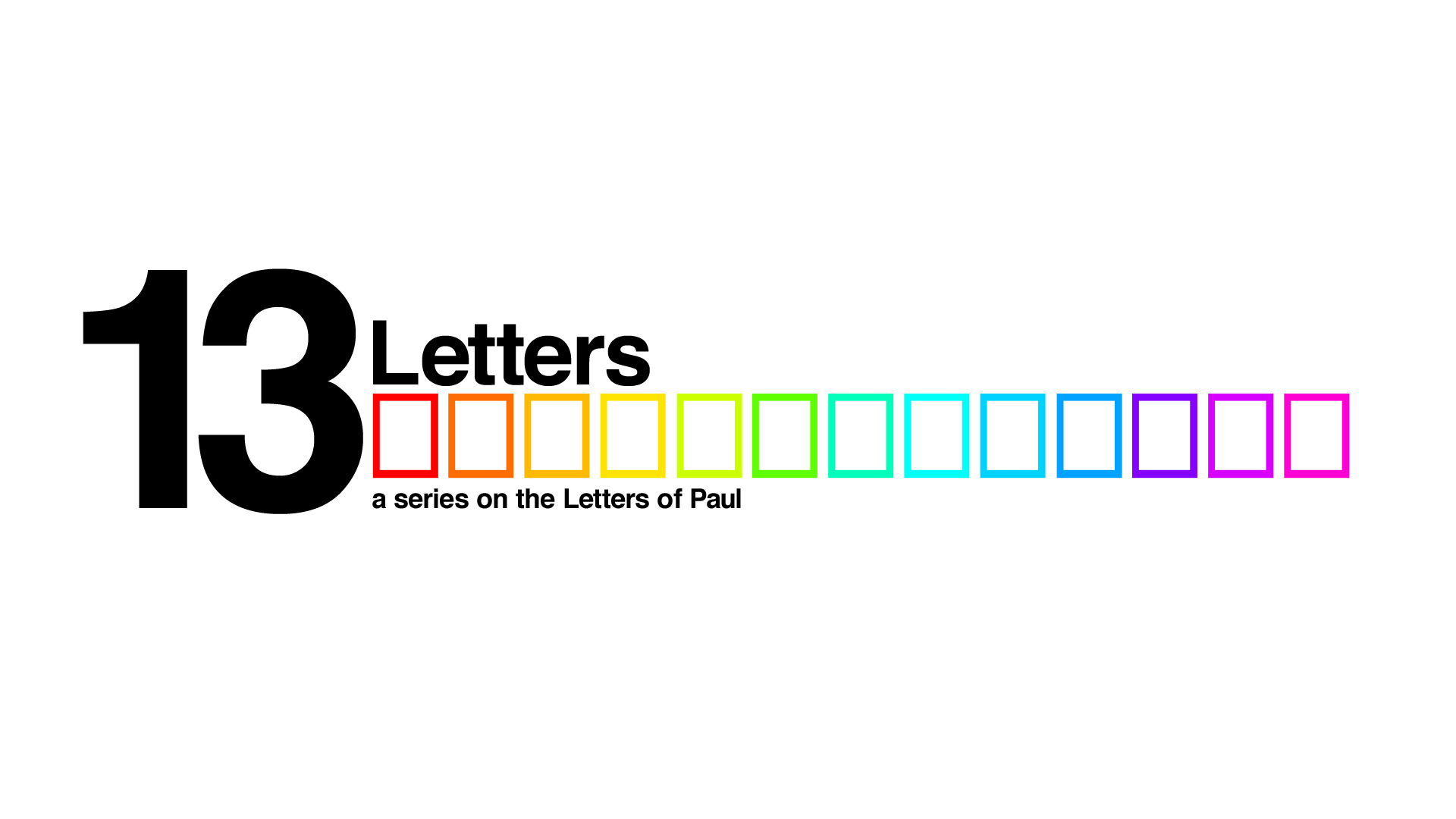 Series Wrap Up: 13 Letters